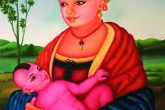 ALEXIS KERSEY, Vierge à l'enfant.