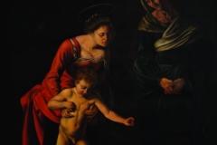 "SILVIA DEL SECCO, Parafrenieri, d'après Caravaggio. Exposé dans l'espace ""Vrais faux""."