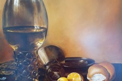 ROMINA COMETTI, Still life with lemon and glass (after Claesz)