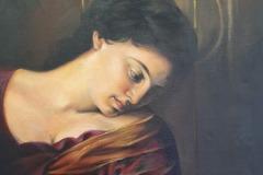 SILVIA DEL SECCO, Madonna dei Pellegrini (detail) after Caravaggio