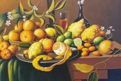 VITTORIO STRANO, Still life with lemons