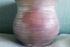 AFRA ET TOBIA SCARPA, Vase argent fin 999 avec intérieur doré.